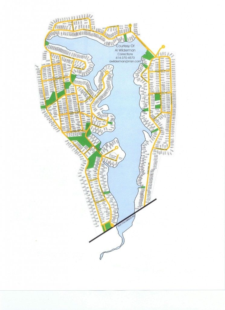 Map of Choctaw Lake, property lot numbers
