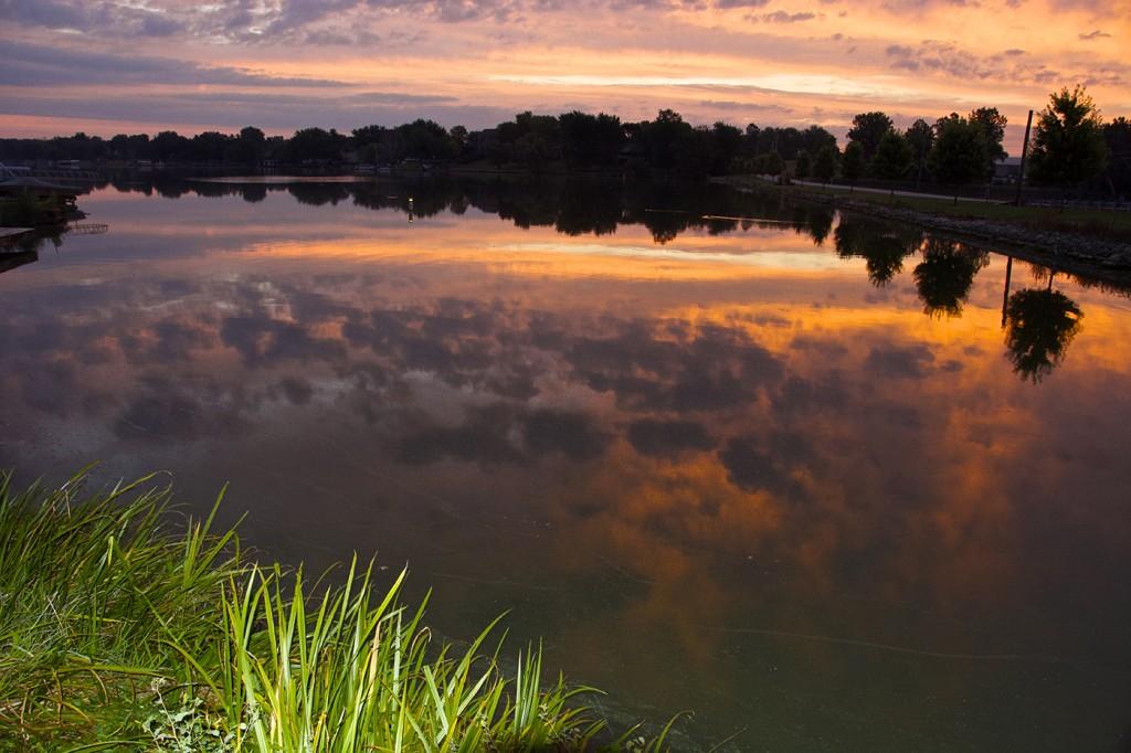 Sunrise over scenic Choctaw Lake, near Columbus, Ohio