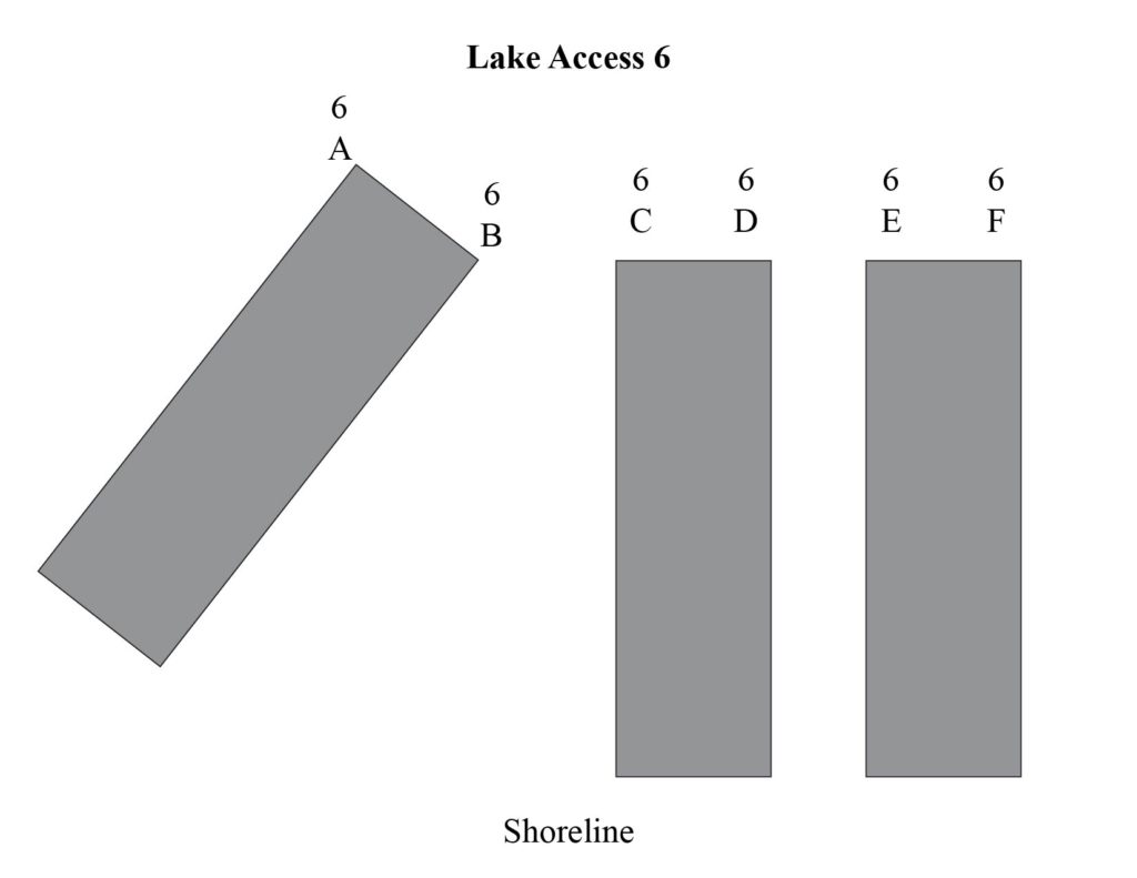Lake access 6 boat docks
