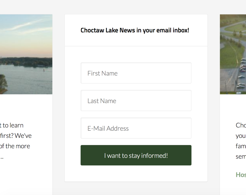 how do i update my email address for choctaw lake emails