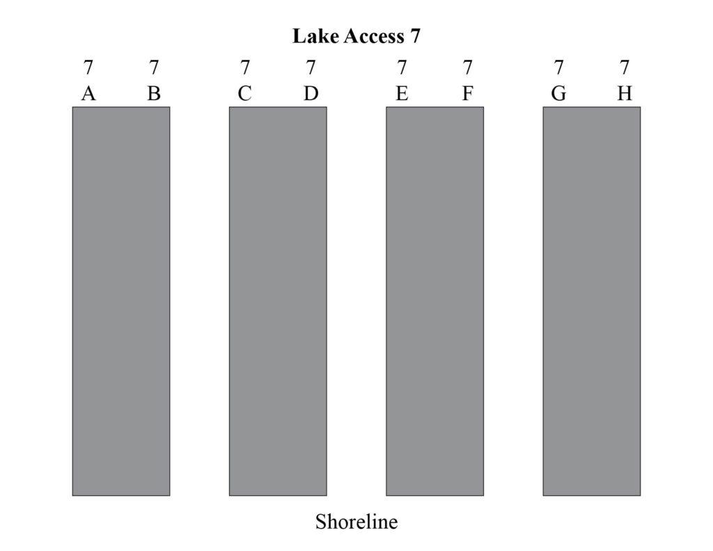 Lake access 9 boat docks